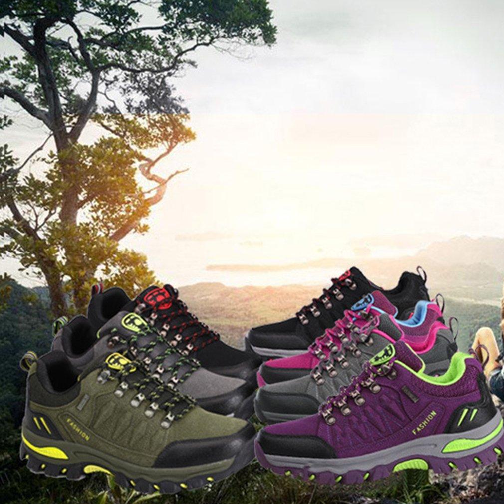 Dreamshow Wanderschuhe Herren Damen Outdoor Schuhe Leicht Trekking Sportschuhe Bergschuhe 3944 Grün