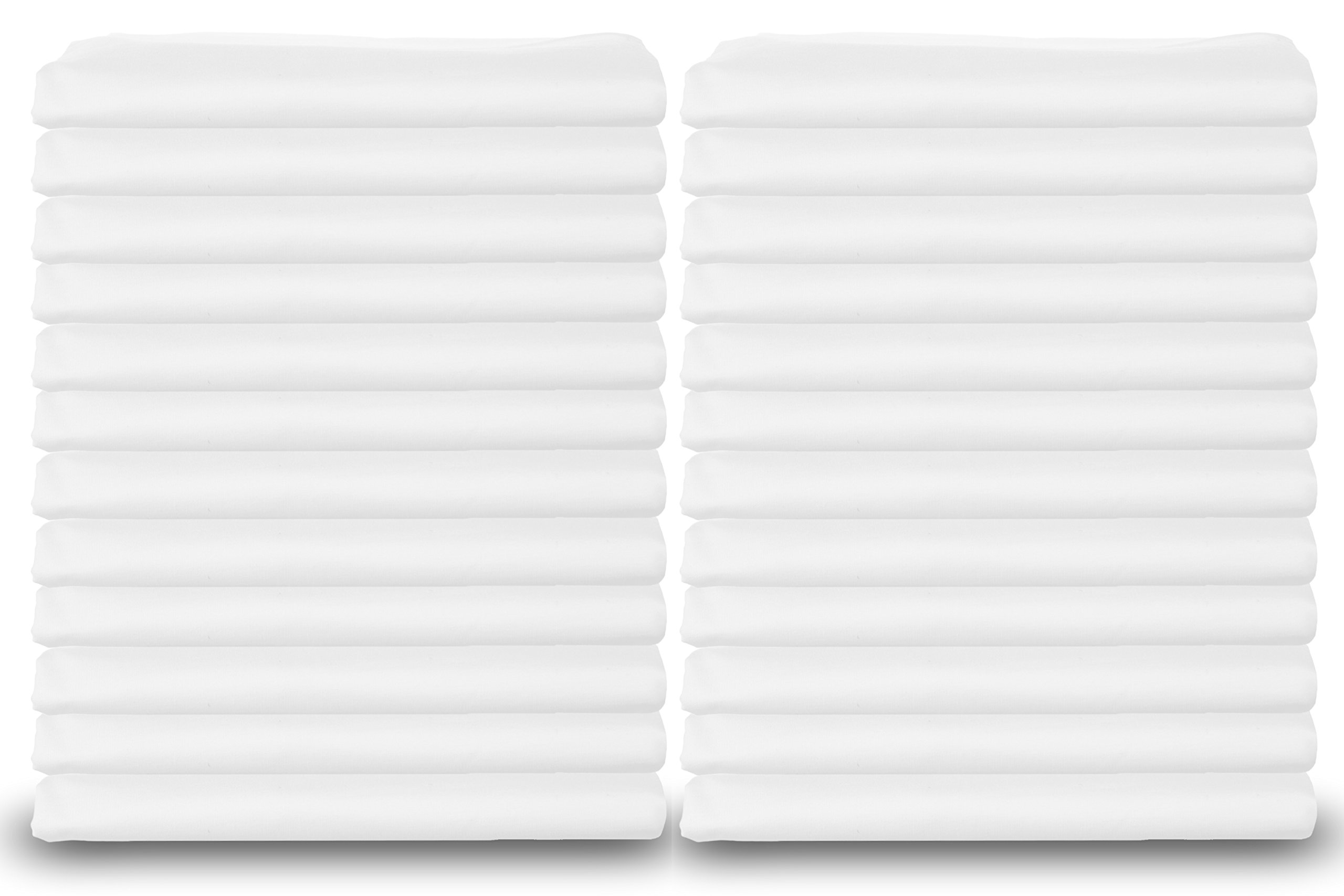 Elite White Pillowcases, Standard Size, T-180 Percale, 24-Pack