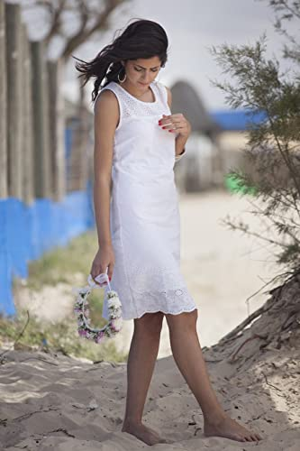 11d081686202 Image Unavailable. Image not available for. Color  White Romantic Short  Summer Dress ...