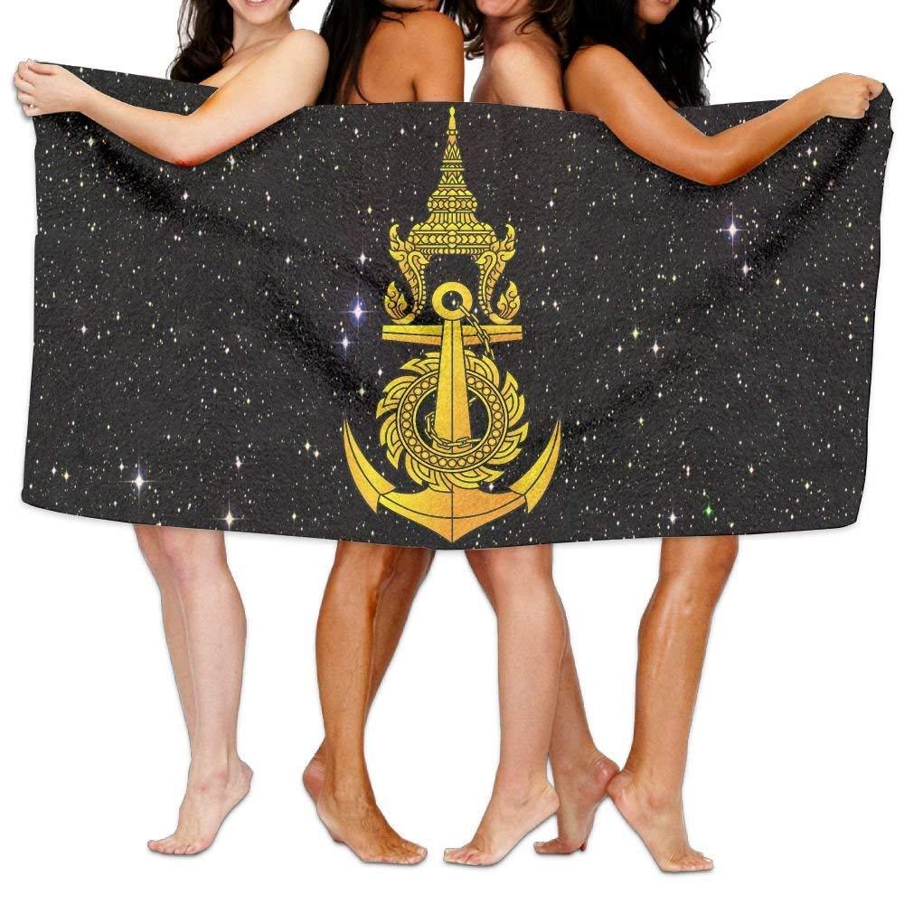 HONGYUDE Royal Thai Navy 100% Polyester Velvet Absorbent Washcloths 31 X 51 inches