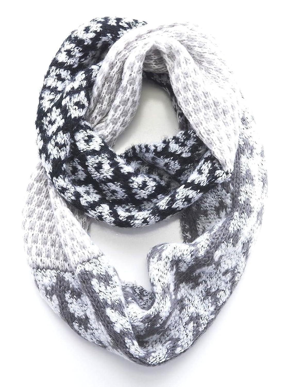J. Jill - Women's - Fair Isles Nordic Patchwork Knit Infinity Scarf