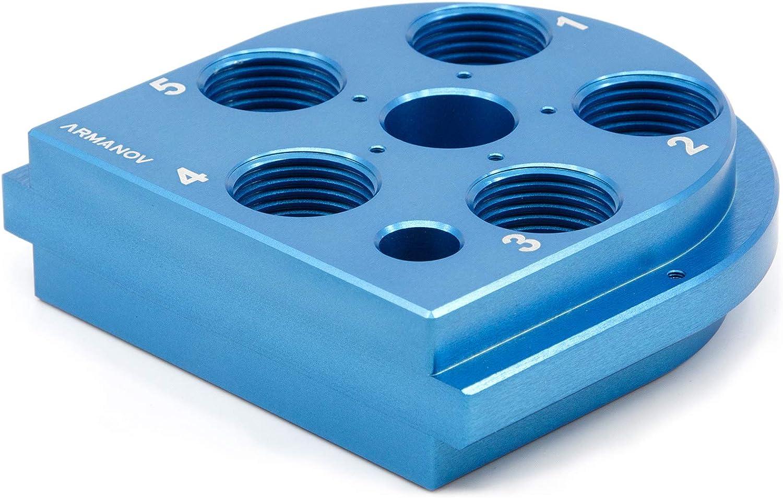 Armanov Dillon 650 Tool Head, Zero Play, Free Float Ready Blue