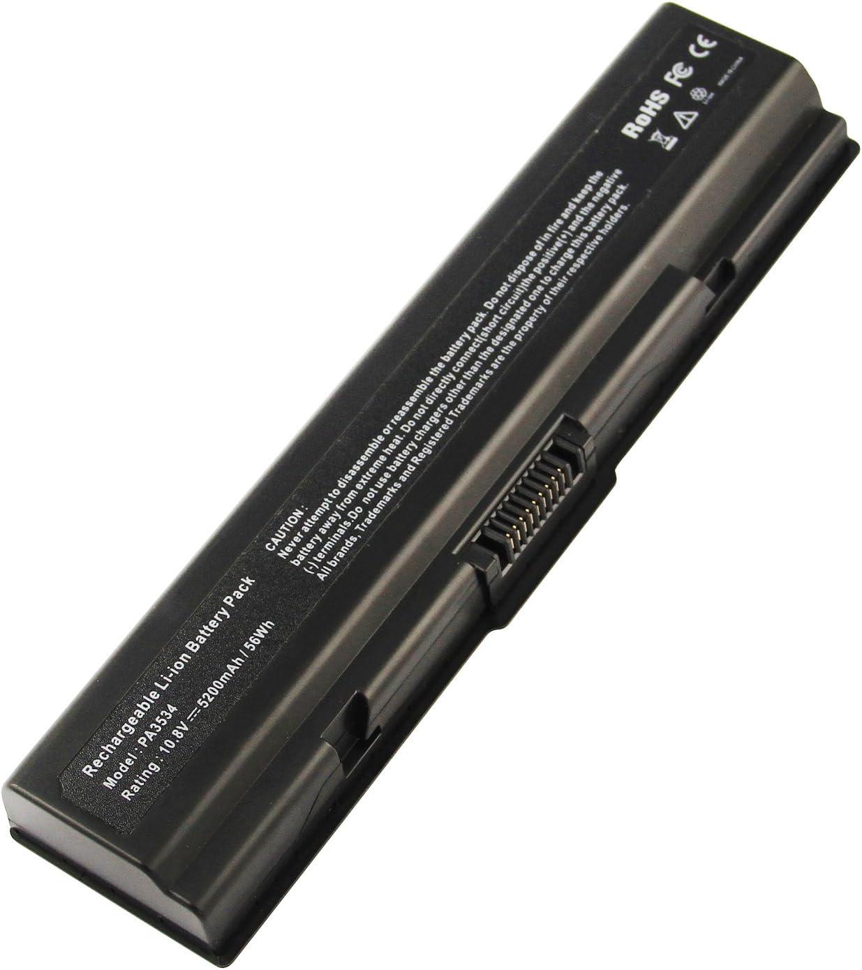 AC Doctor INC 5200mAh Battery for Toshiba Satellite A305-S6837 L305-S5875 L505-ES5018 A305-S6898 L201 Laptop Battery PA3533U-1BAS PA3682U-1BRS PA3793U-1BRS PABAS174