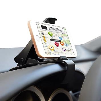 Salpicadero Soporte de coche HUD GPS teléfono soporte salpicadero de piel de cocodrilo clip para una ...