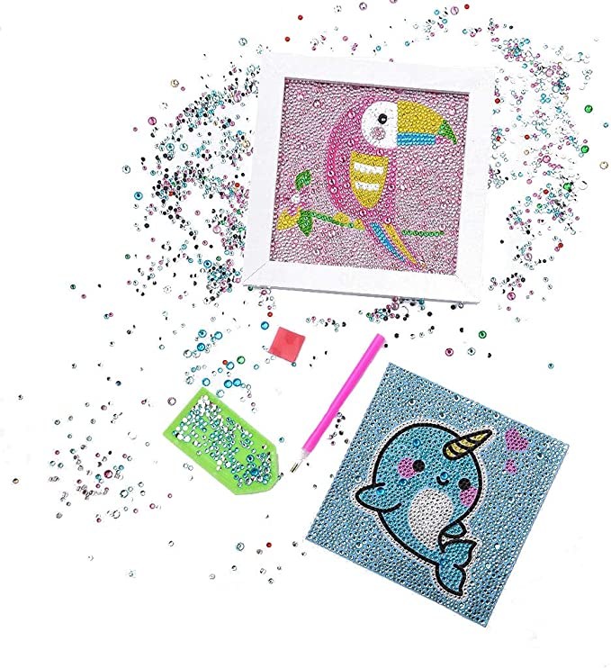 Homokea 5D DIY for Kids Full Drill Diamond Painting Pictures Diamond Art Kits 6X6 inches Unicorn2
