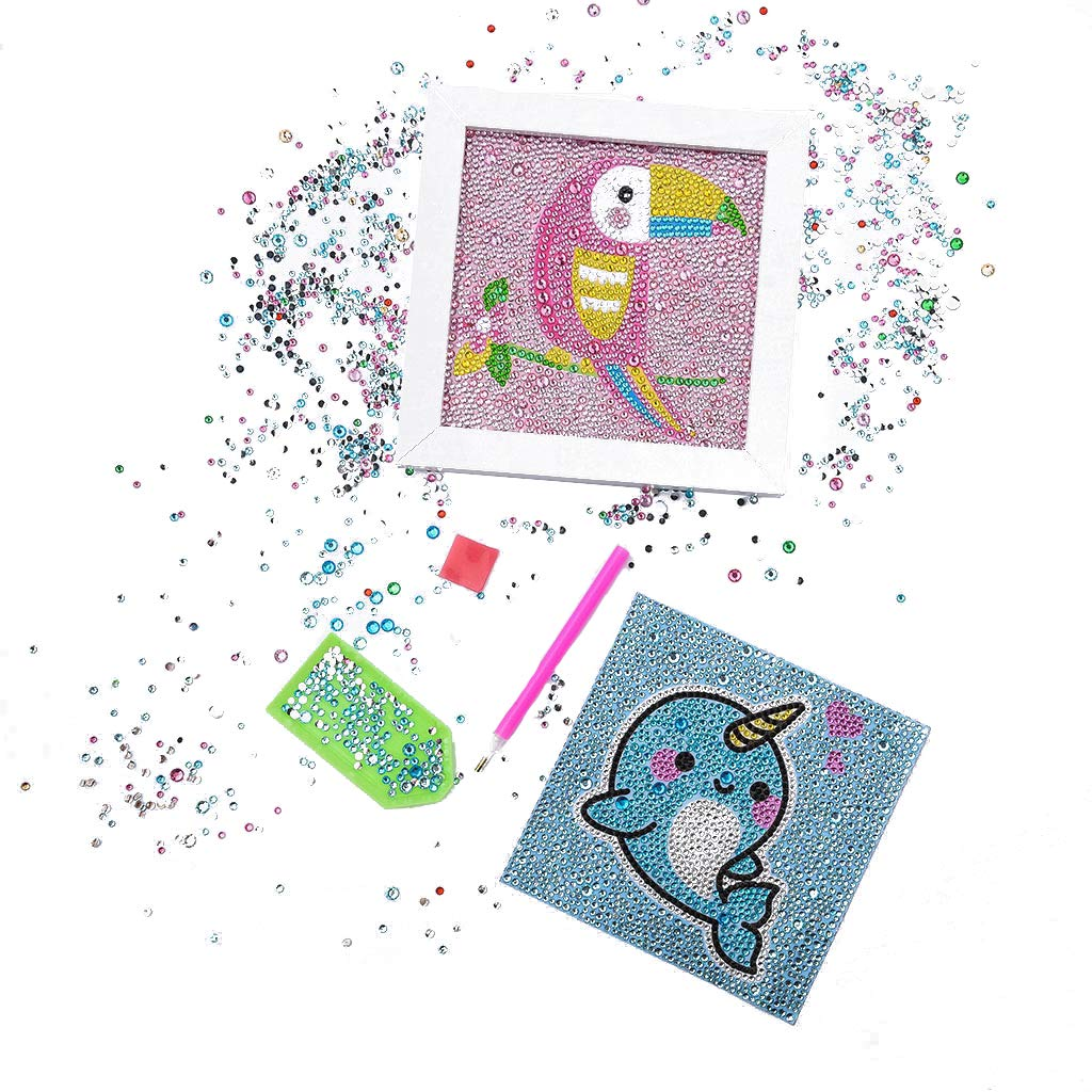 Diamond Painting for Kids Full Drill Paint with Diamonds Rhinestone Picture Arts Bird