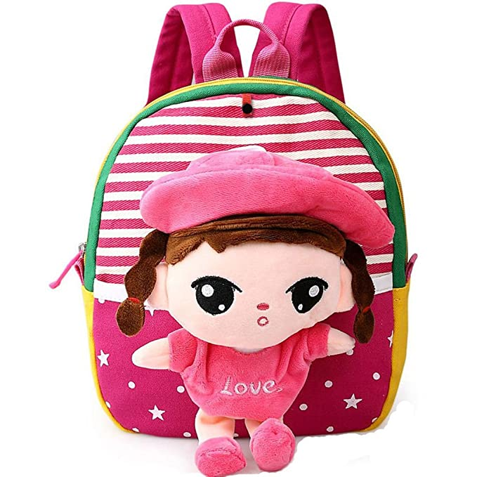 cf99ef5fc9e MATMO 3D Cute Cartoon Little Plush Baby Backpack Baby Toy Bag Rose Red Girl