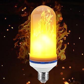 LED encendidas Llama, niceEshop (TM) LED Bombilla Lámpara Luz titilante E26/E27