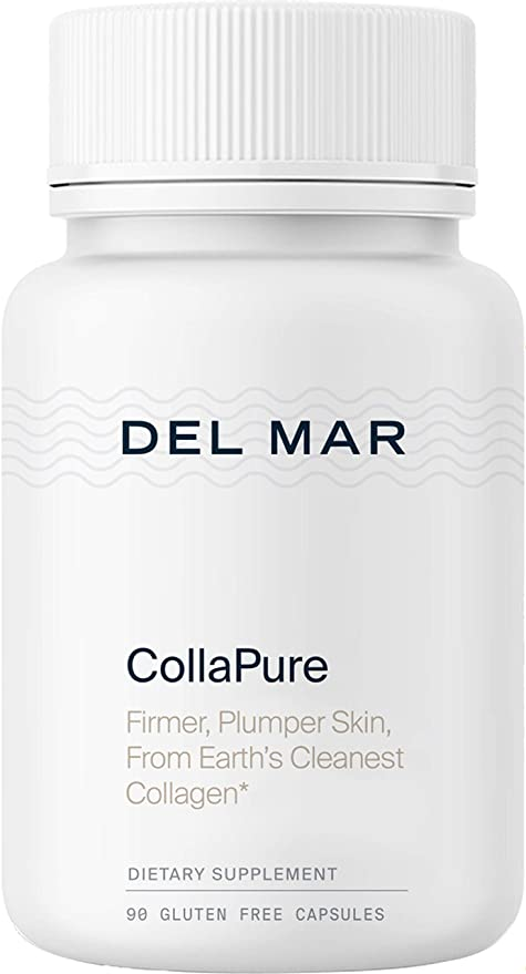 Del Mar Labs: CollaPure - Antiaging Collagen Nutritional Supplement for Skin, Hair and Joints - 90 Tablets - Clean, Pure Type-II Collagen from Pasture-Raised, Free-Range Chicken - Made in The USA