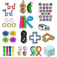 Sensory Fidget Toys , 35 Piezas Fidget Toys Pack , DAQI Sensorial Alivio Del Estrés Squeez Toys, Bolas De Estrés,Cadena…