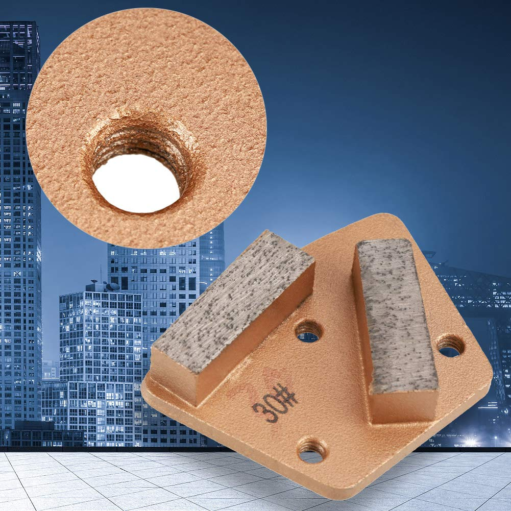 Diamond Concrete Grinding Disc Pad,3 Holes 2 Straight Teeth Stone Porcelain Trapezoid Grinding Block,for Grinder Grit