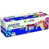 Giotto 530600 Confezione 12 Flaconi Decor Acrylic, 12 x 25ml