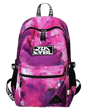 Mujer Mochilas Escolares Mochila Galaxia Backpack Casual Colegio Bolso para Chicas Rojo: Amazon.es: Equipaje