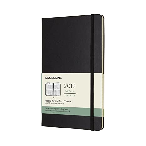 Moleskine Classic Hard Cover 2019 12 Month Weekly Vertical Planner, Large (5