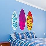 "Surfboards Aloha Design Set of 3 Wall Decal - 26"" x 25"""