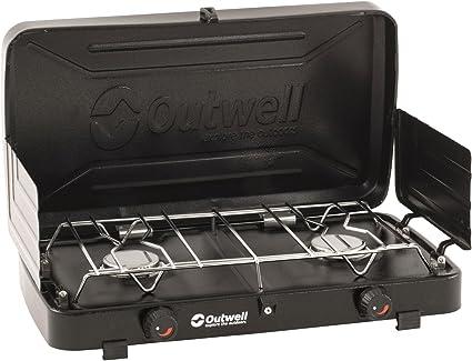 Outwell Appetizer Duo Hornillo de Gas, Unisex Adulto, Negro, 46x25x9 cm