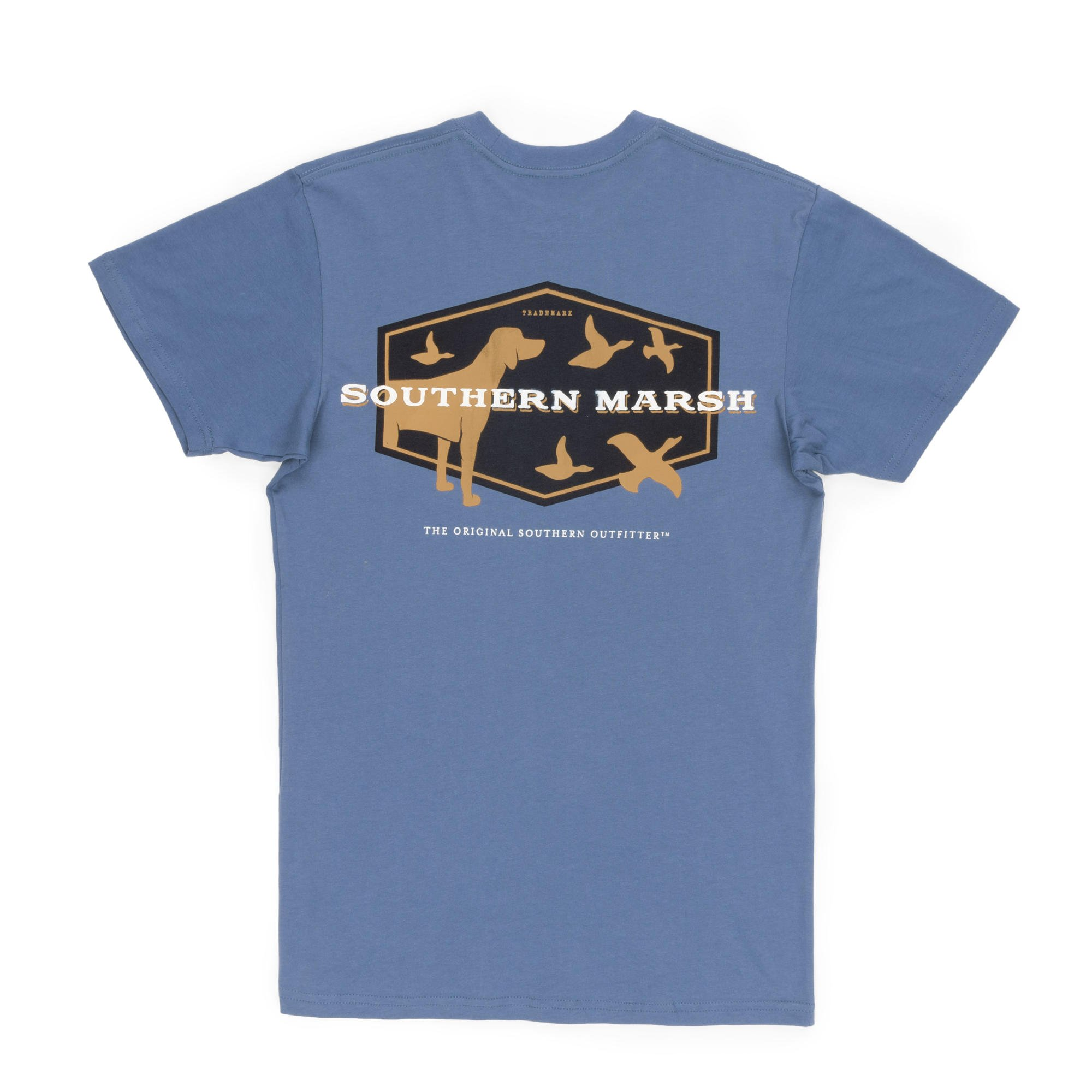 Southern Marsh Branding-Hunting Dog Short Sleeve Pocket T-Shirt-Bluestone-XXXL
