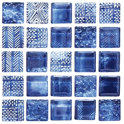 Amazon Com Self Adhesive Decorative Glass Mosaic 3d Print
