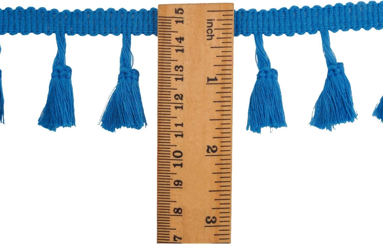 Berolle 30 Yards Tassel Fringe Trim Mixed Color Cotton Lace Tassels Fringe Lace Trim Ribbon for Sewing Clothing Decoration DIY Crafts