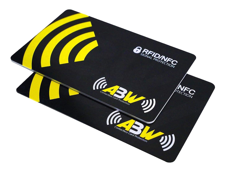 Protector de Tarjetas RFID contactless, NFC Bloqueo - Blocker Card - Tarjeta de Bloqueo de escáner y lectores para billeteras y Pinzas para Billetes - ...