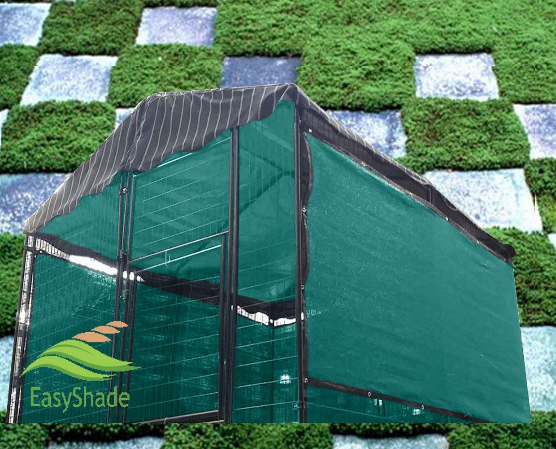 Easyshade Green Windscreen Sunbloker Sidewalls for Kennel, Dog House 6ft H x 30ft L