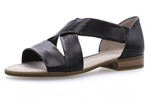 Gabor Comfort Sport Sandalette in Übergrößen Schwarz 82.761