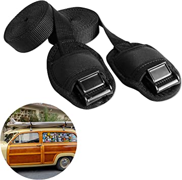 Set of 2 15/' Tie Down Straps w// cam buckle Surf or Paddle Boards Kayak-Canoe