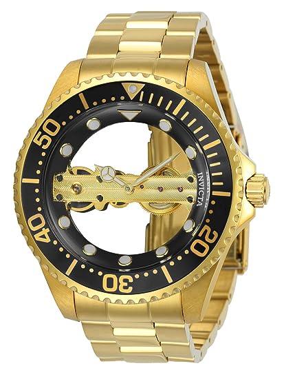 Invicta 24694 Pro Diver Reloj para Hombre acero inoxidable Manual Esfera negro: Invicta: Amazon.es: Relojes