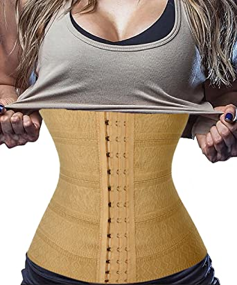 f48c9bfe19 FLORATA Waist Trainer Corset For Weight loss Breathable Waist Cincher Tummy  Control Body Shaper Fat burner