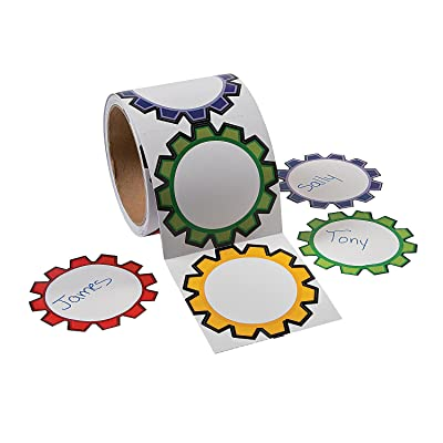 Fun Express Gears Name Tags/Labels - 1 Piece - Educational and Learning Activities for Kids: Toys & Games [5Bkhe1201933]