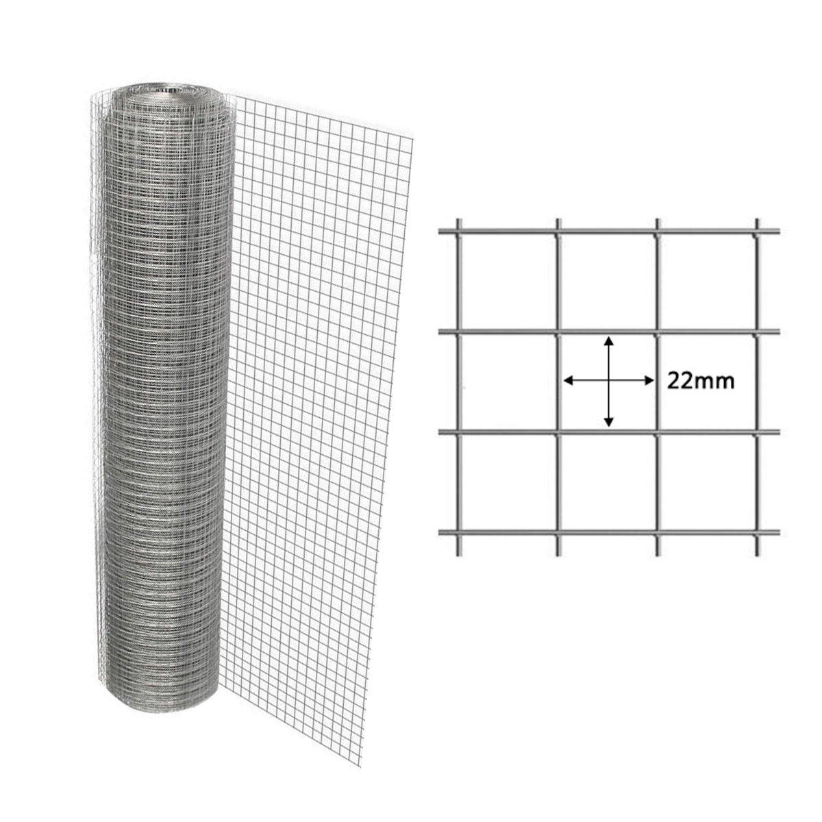 Pre & mium Grillage de treillis soudé fil volière 4d'angle 1X 25m 22x 22mm Grillage Pre&Mium