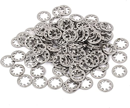 uxcell M5x10mm Stainless Steel Internal Tooth Star Lock Fastener Washer 50PCS a16032800ux0913