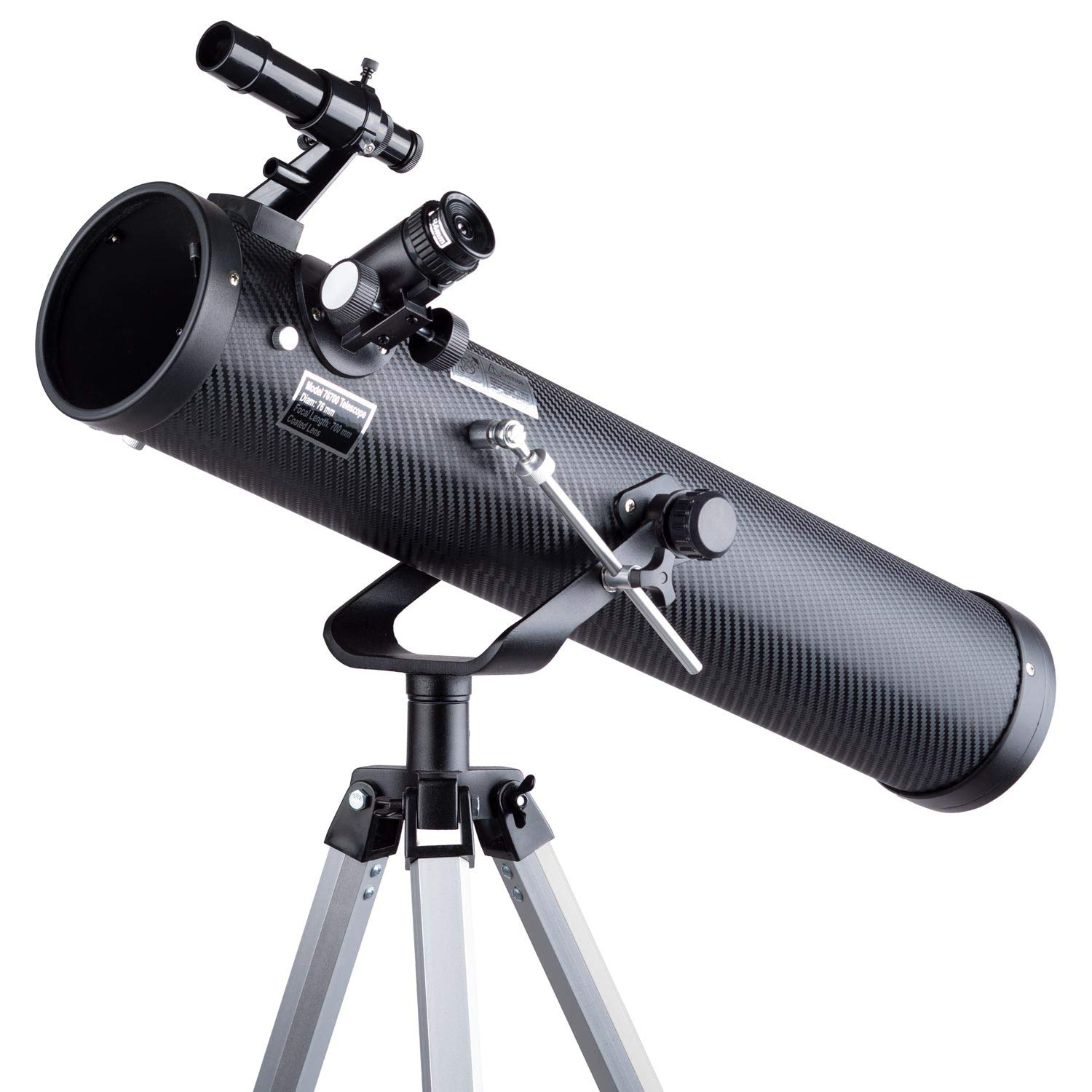 IQCrew 35X-350X 76mm Dobsonian Telescope with 3X Barlow Lens and Tripod by IQCrew