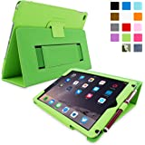Snugg Leather Kick Stand Case for Apple iPad Air 2 - Green
