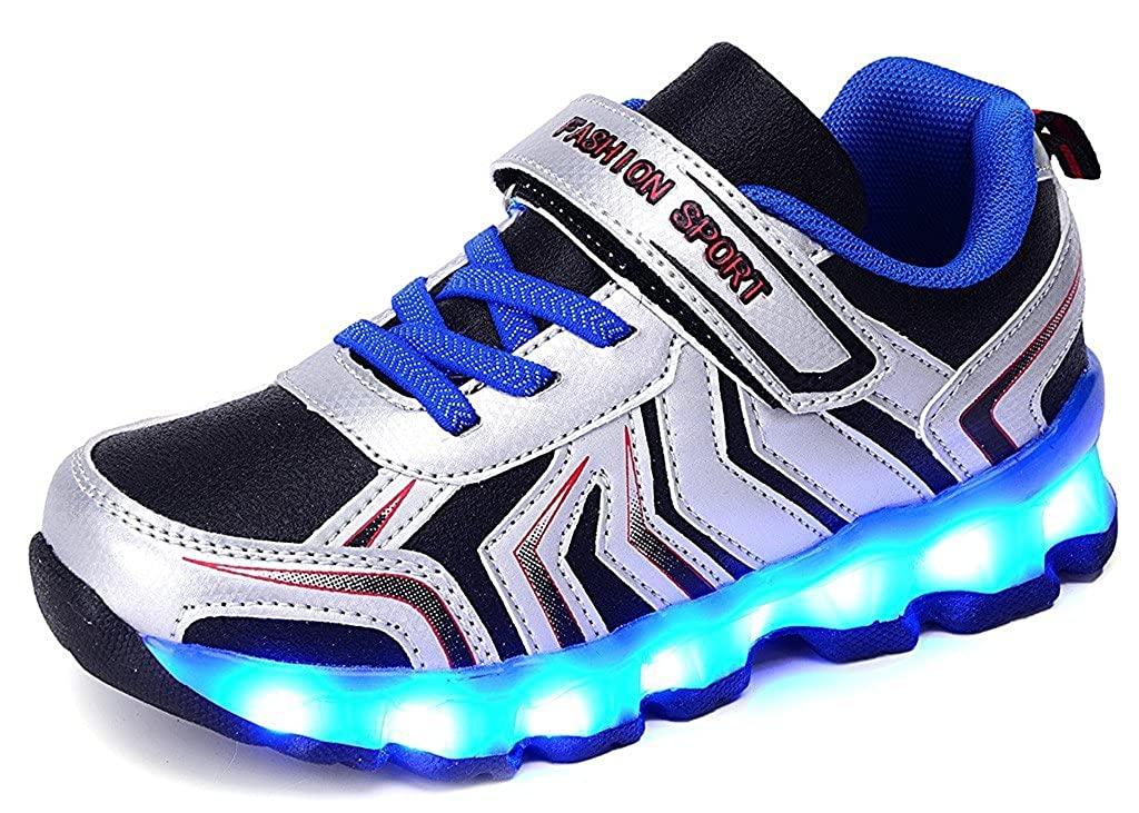 Hanglin Trade LED Light Up Shoes Fashion Flashing Sneakers Causal Shoes for Kids Boys