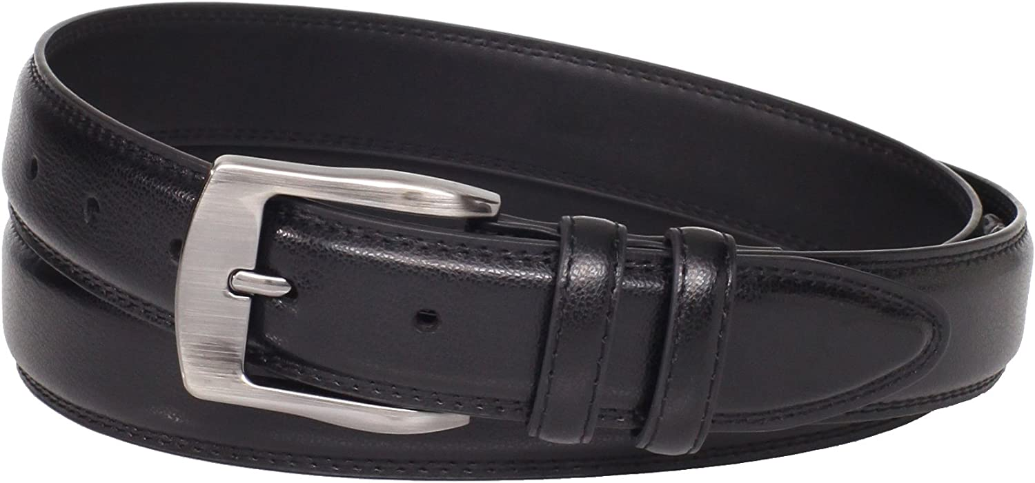 Florsheim Mens Big-Tall Pebble Grain Leather Belt 35mm