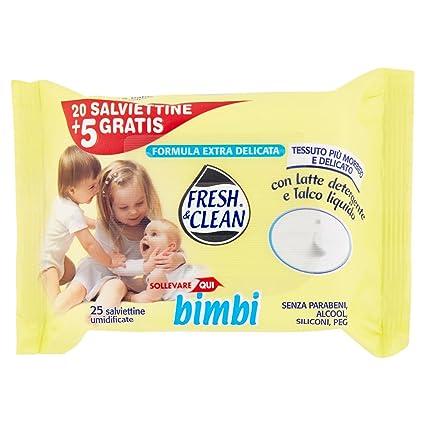 Bimbi - Fresh & Clean - Toallitas húmedas - 25 toallitas