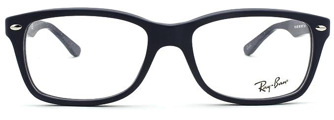 2c5a3ba99a5a6 Amazon.com  Ray-Ban RX5228 Woman Square Eyeglasses (Sand Blue Frame ...