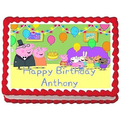 Peppa Pig Cake Topper Amazon Com