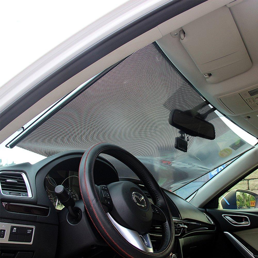 LOCEN Auto Sonnenschutz Frontscheibe Sonnenblende Sonnenschutzrollos Schutz vor UV-Strahlen für Kinder 68 cm