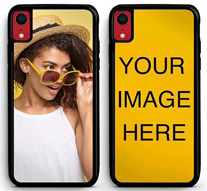 uk availability 9ae76 df2d8 Custom iPhone XR Cases Protective iPhone XR Case iZERCASE Personalized  Custom Picture CASE Make Your Own Phone Case (Black)