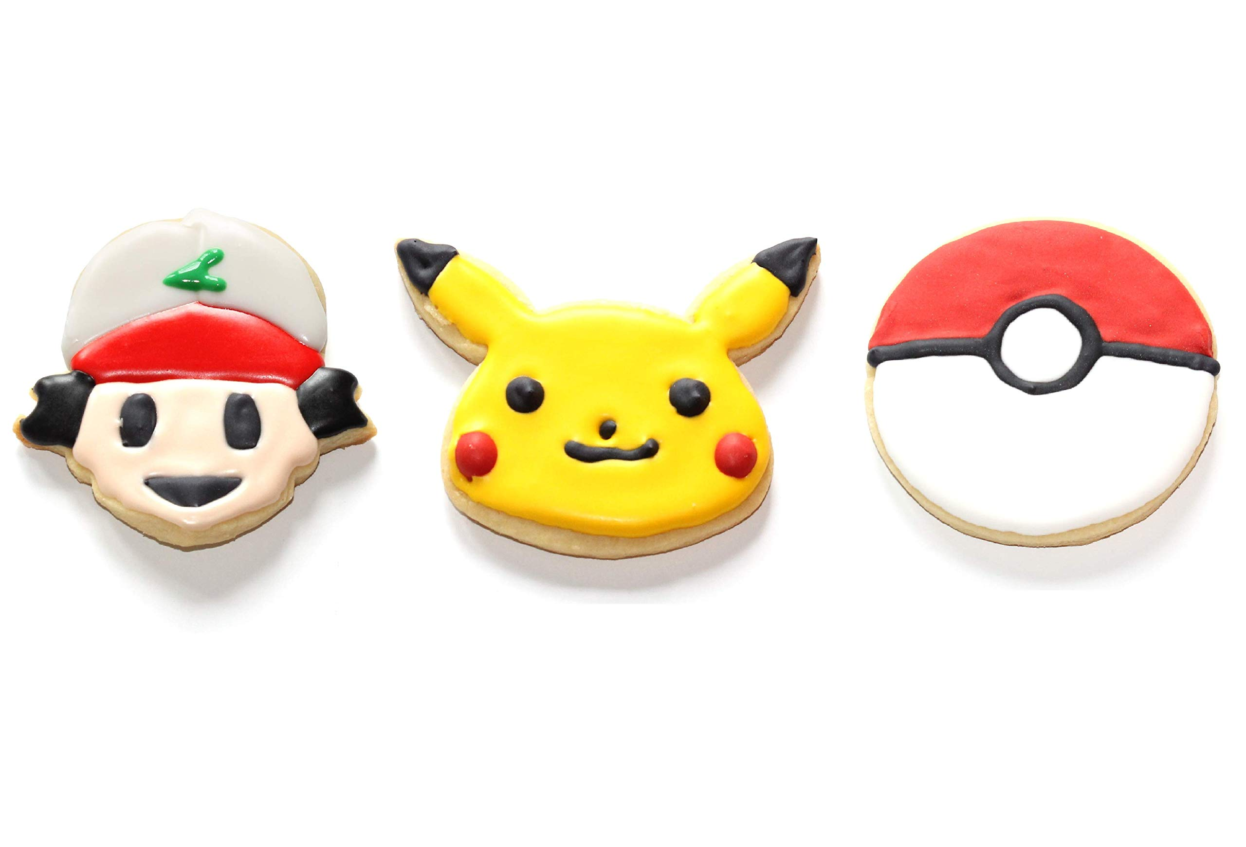 3-Pack Pokemon Cookie Cutters | Pokeball, Ash, Pikachu | Special Edition by cookiemoji baking co. (Image #4)