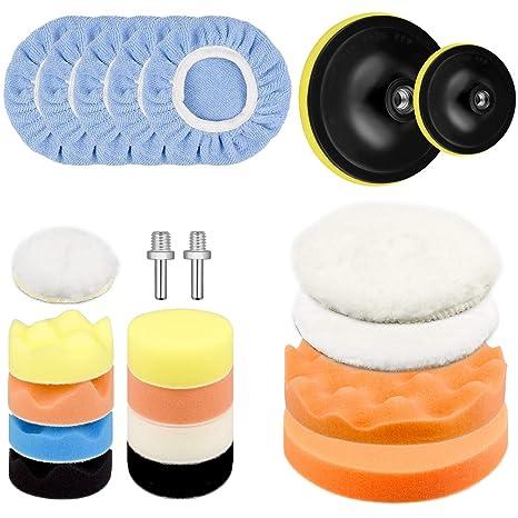 Automotive Care & Detailing Mitts, Bonnets & Buffing Pads Pad Polishing Waxing Foam Sponge Kit Car Polisher Buffer Drill Set Of 22 Pcs 3