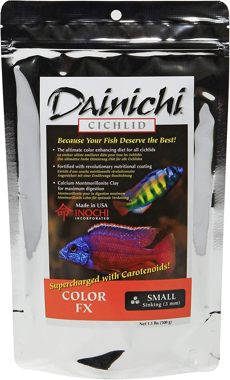 Dainichi Cichlid Food - Color FX Sinking Small Pellet - 1.1 lbs