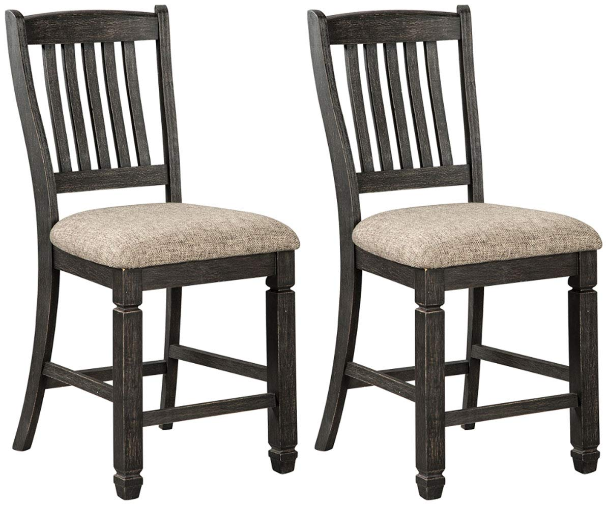 Ashley Furniture Signature Design - Tyler Creek Counter Height Bar Stool - Black/Gray by Signature Design by Ashley