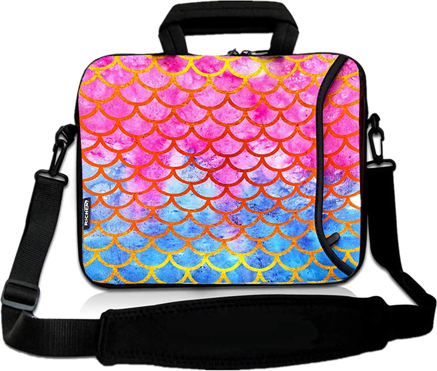 RICHEN Messenger Bag Carrying Case Sleeve with Handle Accessory Pocket Fits Laptops/Notebook/ebooks/Kids tablet/ipad