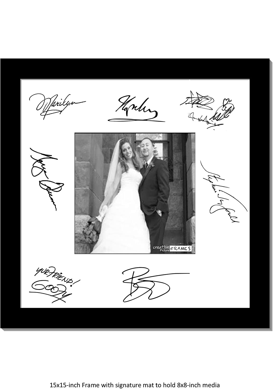 Amazon.com - CreativePF [5x7-16x20bk-w] Signature Frame - Photo ...