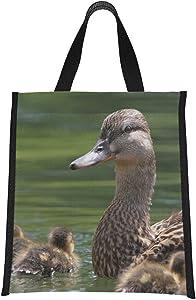 Girls Lunchboxes Mallard Duck With Her Ducklings Bag Cooler Cooler Travel Bag Reusable, Foldable Keeps Food Hot/cold For Women,men,school,office