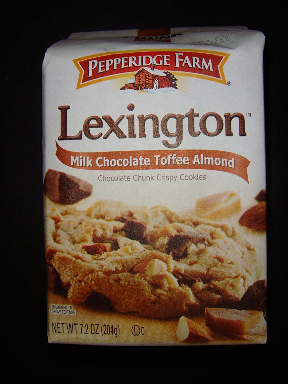 Pepperidge Farm Lexington Milk Chocolate Toffee Almond Chocolate Chunk Crispy Cookies 7.2 oz (pack of 4)