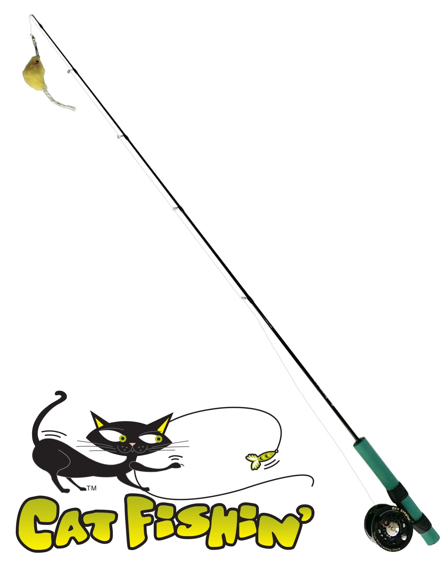 Cat Fishin'': The Toy with Lasting Allure. The Ultimate Interactive Toy for The Health and Well-Being of Your Cat by Cat Fishin'